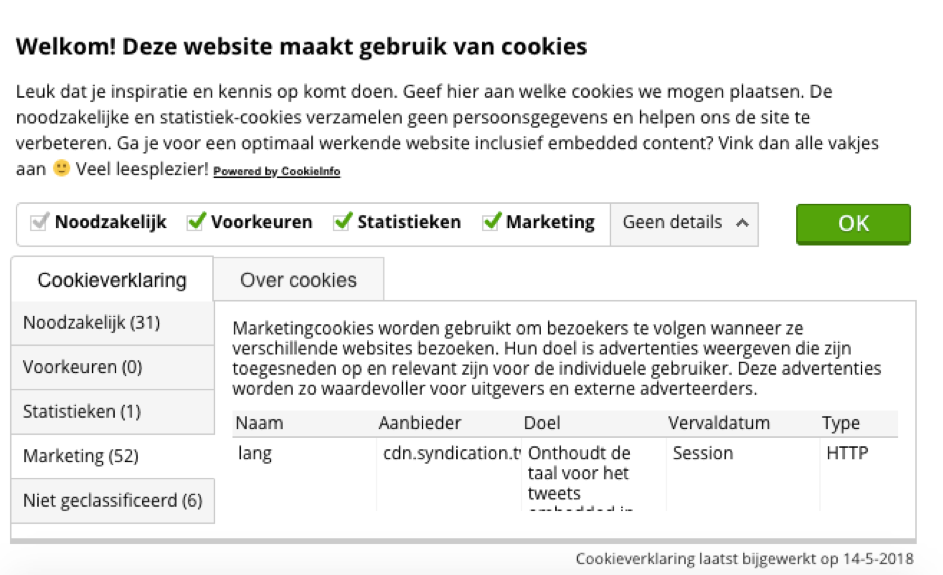 Marketing cookies