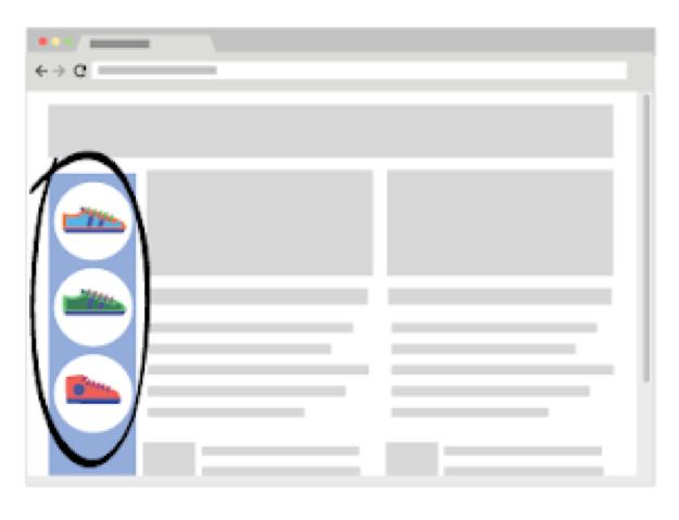 Voorbeeld van Google display ads